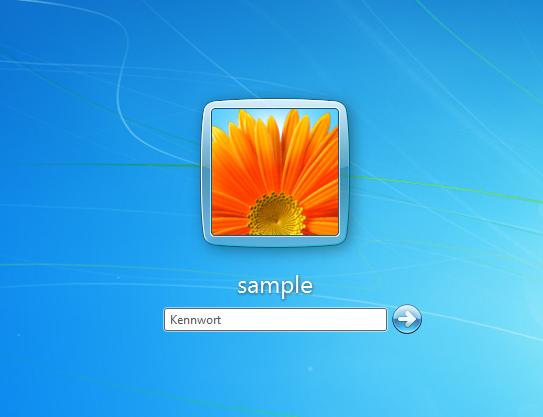 windowsgr246223e des benutzerbild und der schrift auf
