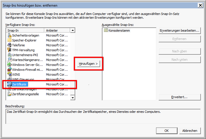 IIS SAN Zertifikat anfordern (Zertifikat mit mehreren Domänennamen ...